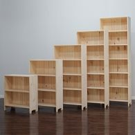 Solid Wood Bookcases Birch Unfinished