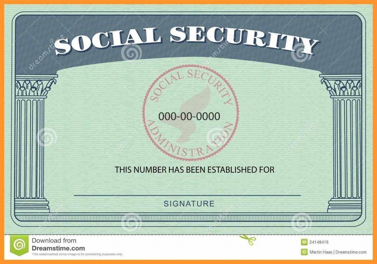 20 Blank Social Security Card Template For Blank Social Security Card Template Download In 2020 Card Template Social Security Card Templates