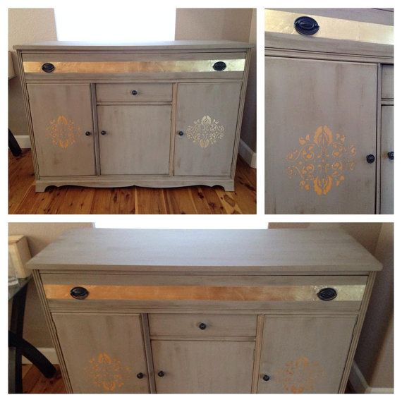 $550 Etsy 1940's Sideboard, Credenza, Buffet, Painted ...