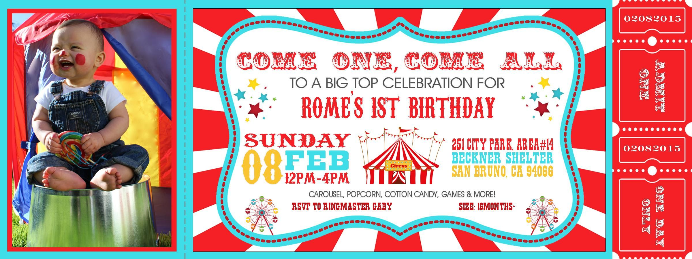 carnival theme party invitations
