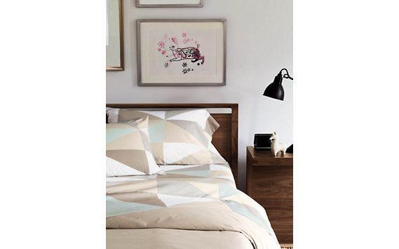 DWR Diamond Sheet Set - Twin Making the Modern Bedroom Pinterest