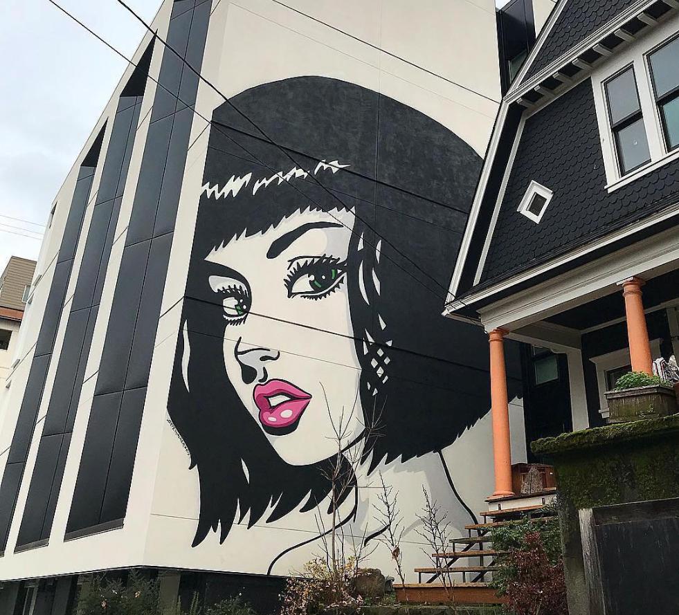 Skye Walker in Portland Oregon USA Street Art Doors and