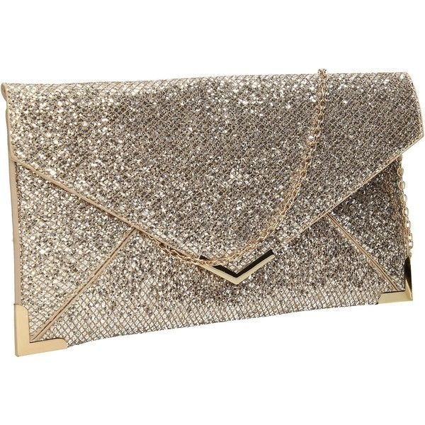 Fallabella Glitter Sparkle Envelope Womens Party Prom Wedding Clutch...  ( 19) ❤ liked on Polyvore featuring bags 69e2722c0969