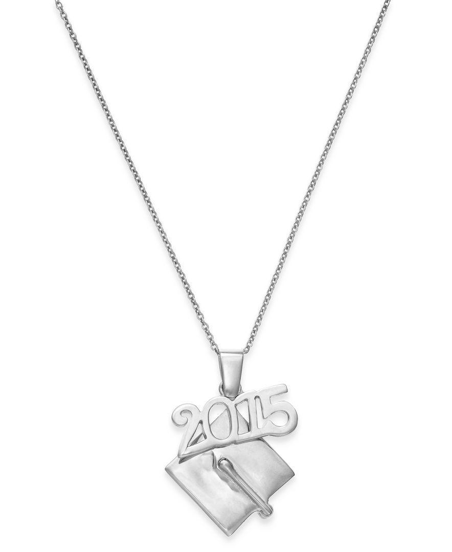 Giani Bernini 2015 Graduation Cap Pendant Necklace In