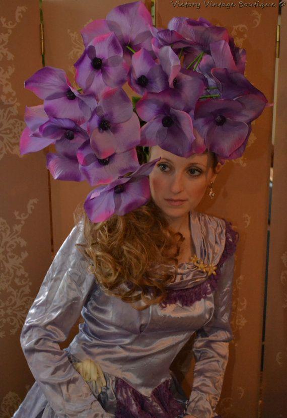 Giant flower Hydrangeaheaddress hat floral by bwilkerson74 on Etsy ... 35cf51935b2