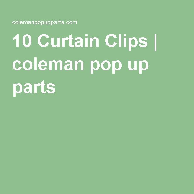 Curtain Panel C Clips Pack Of 10 Type E Pop Up Camper Camper