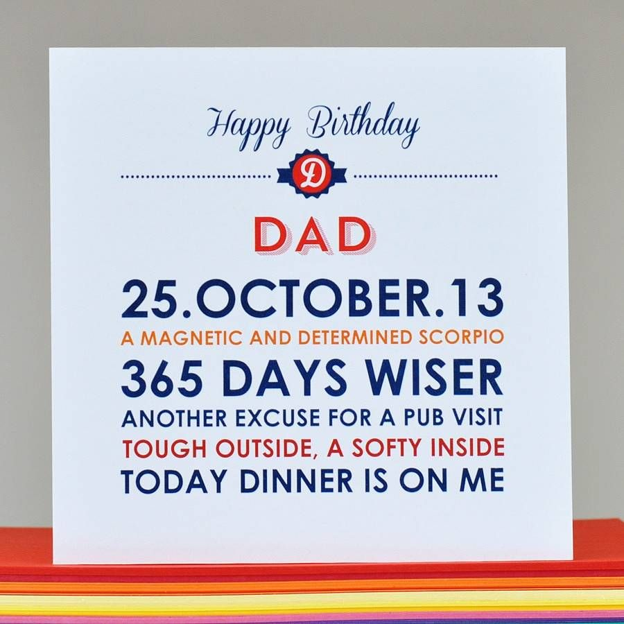 Personalised Dad Birthday Card By Come For A Dream