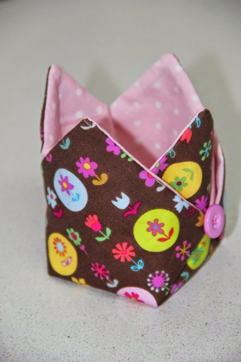 Tutorial cestita de tela multiusos cestas es facil y tela - Bolsas de tela manualidades ...