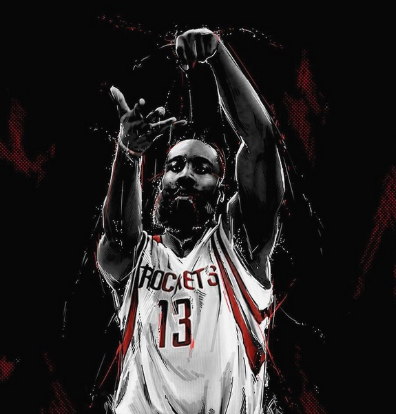 James Harden 'Dinner Is Served' Illustration James