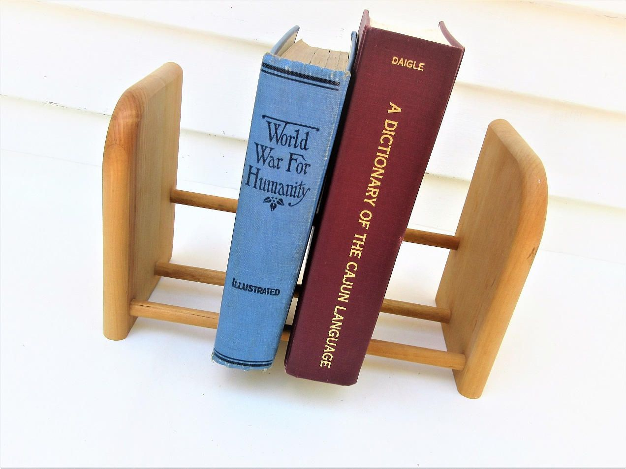separation shoes c795a 3c145 Vintage Wood Bookshelf   Wooden Book Stand   Tabletop ...