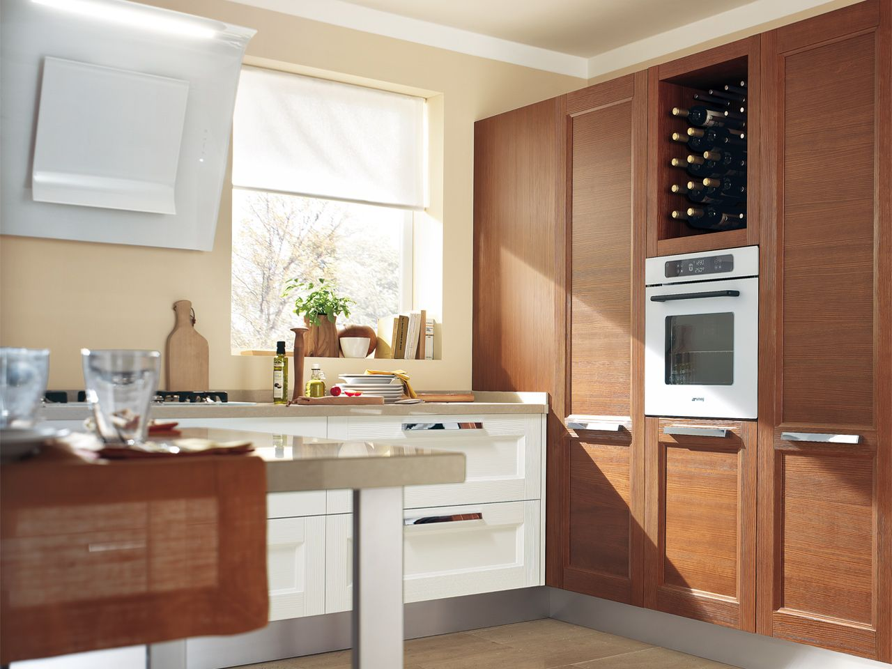 Solid wood fitted kitchen lacquered kitchen georgia collection by