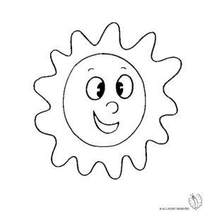 Disegno Di Sole Da Colorare Per Bambini Disegno Luna Disegni