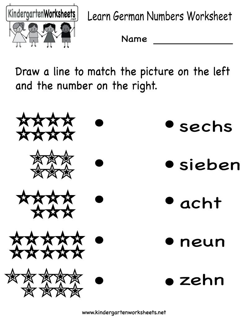 German Numbers Worksheet Printable School Pinterest