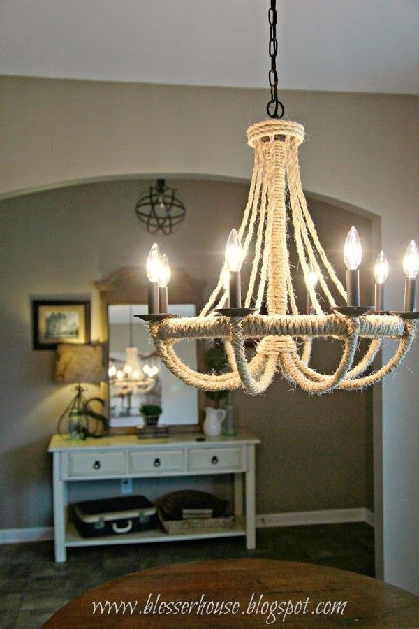 Restoration Hardware Knock Off Rope Chandelier