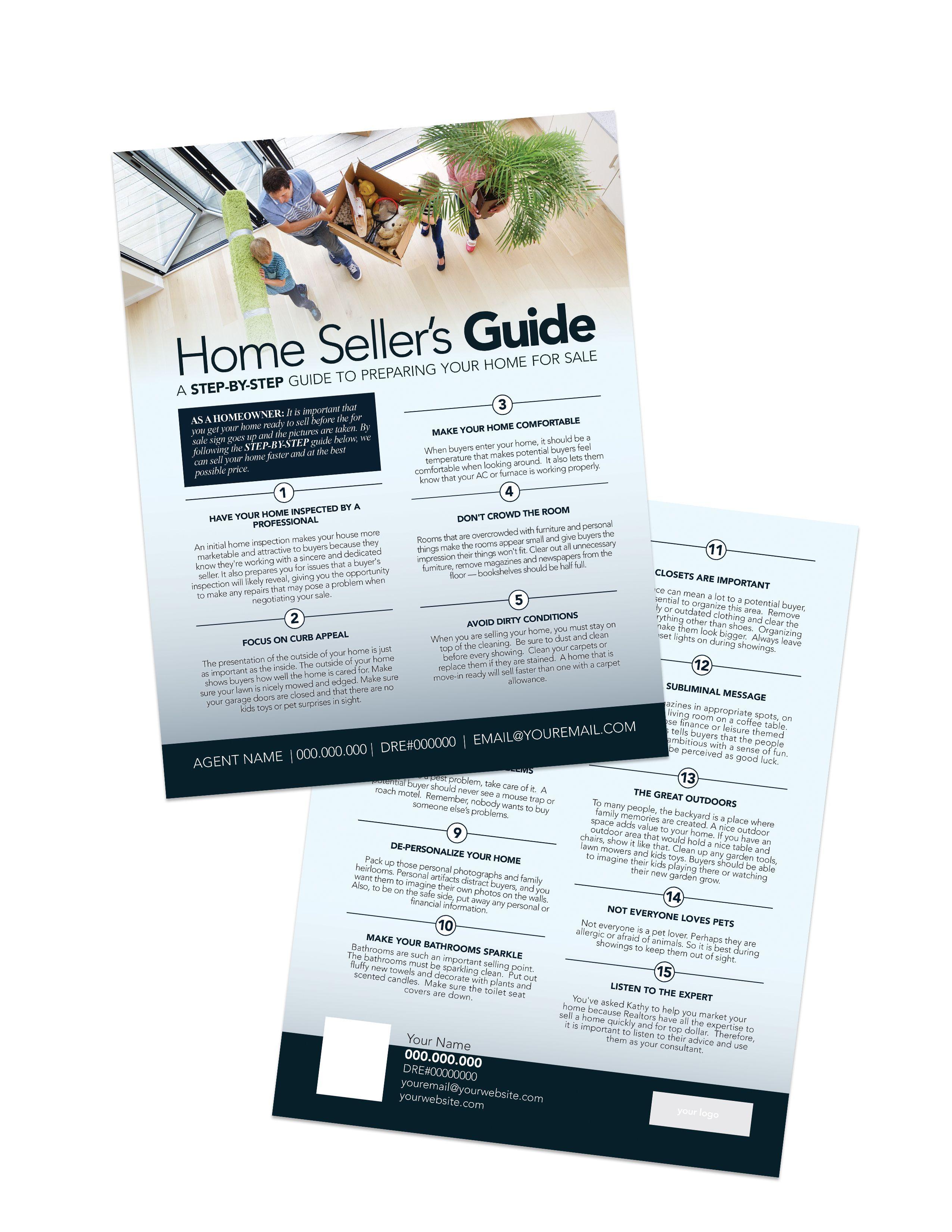Real Estate Marketing Template Home Seller S Guide In 2020 Real Estate Marketing Realtor Postcards Real Estate Postcards