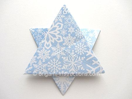 Folding 5 Pointed Origami Star Christmas Ornaments | 338x450