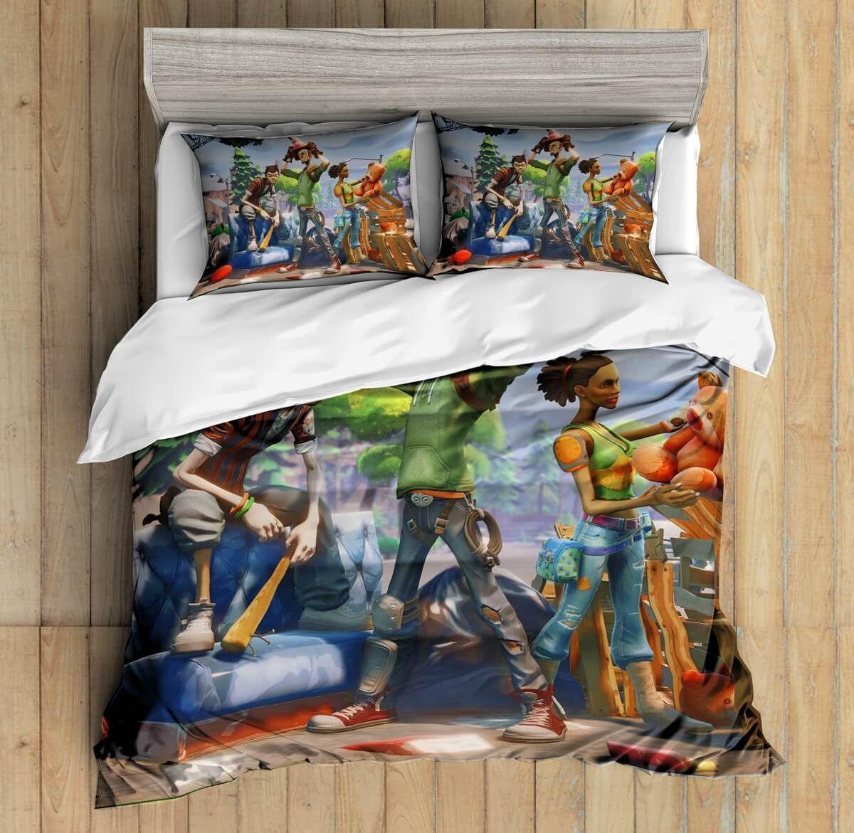 3D Custom Fornite Bedding Set Duvet Cover Set Bedroom Set ...