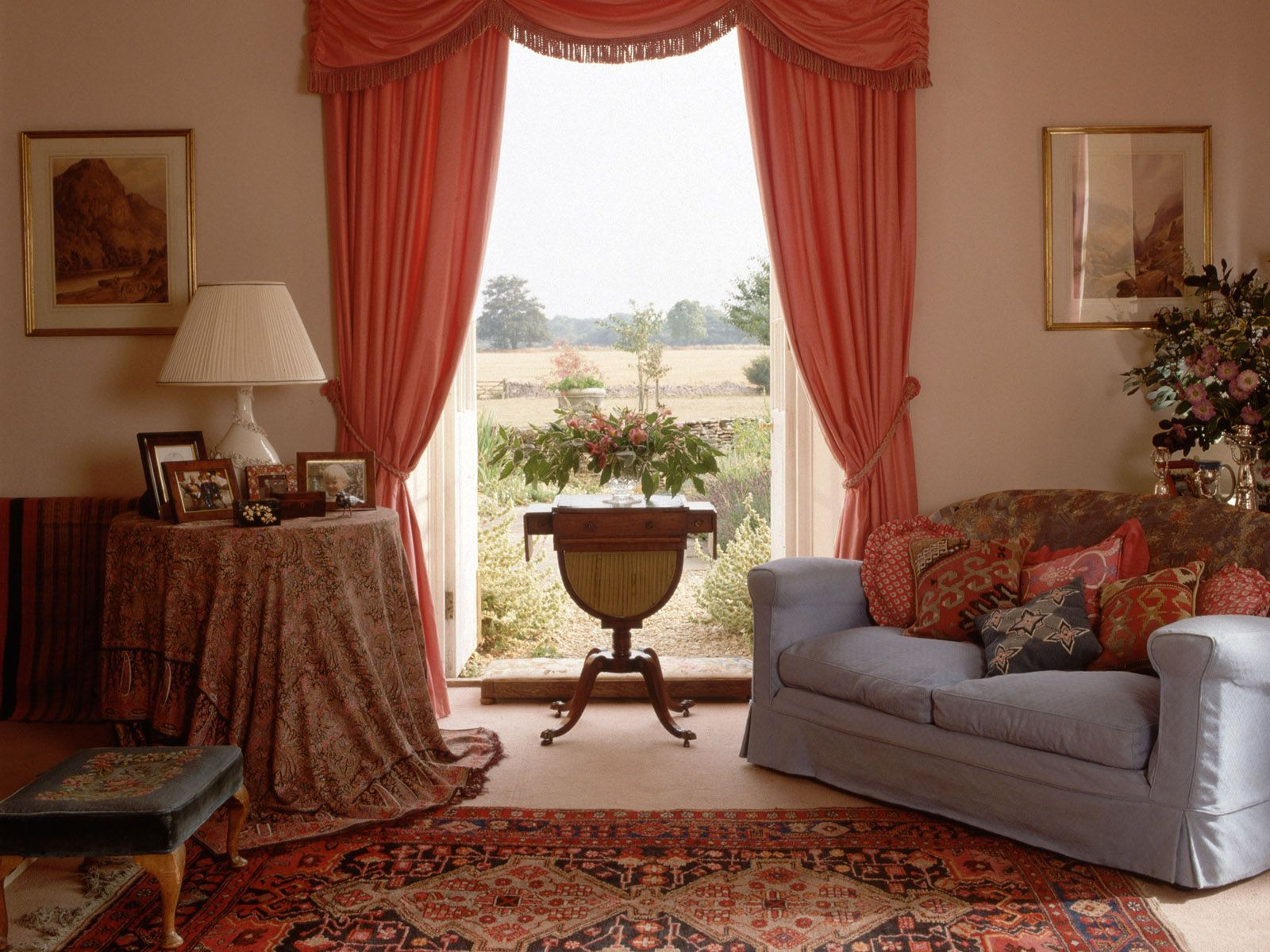 Classic curtain designs for living room - Room Traditional Country Style Living Room