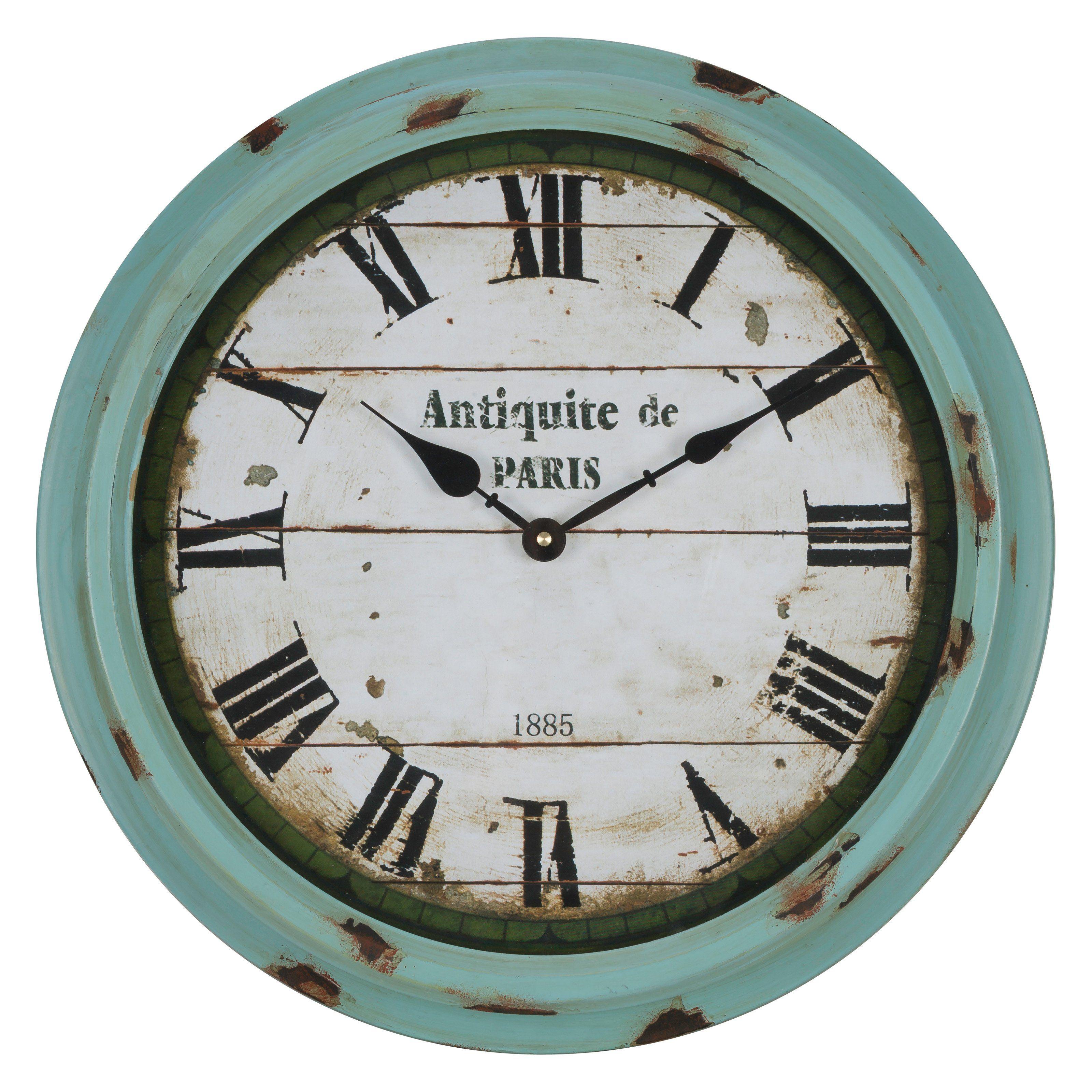 Cooper Classics Anthea 16 75 In Wall Clock Www Hayneedle Com Rustic Wall Clocks Green Wall Clocks Wall Clock
