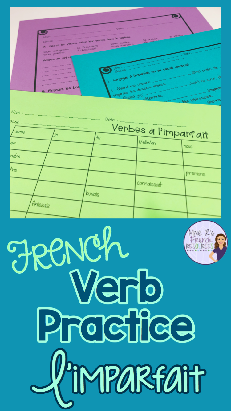 French No Prep Imparfait Imperfect Notes And Worksheets French Teaching Resources Teaching French Learn French [ 1334 x 750 Pixel ]
