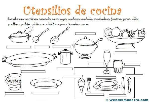 Ejercicios con los utensilios de cocina pesquisa google - Utencillos de cocina ...