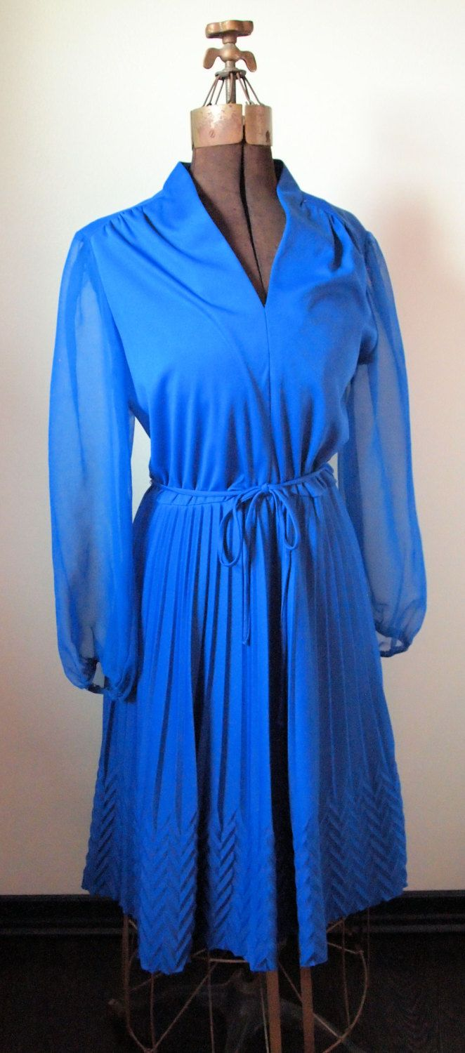 Blue Long Sheer Sleeved House Dress By Siouxsiecue On Etsy 25 00 House Dress Dresses Long Sleeve Dress [ 1500 x 662 Pixel ]