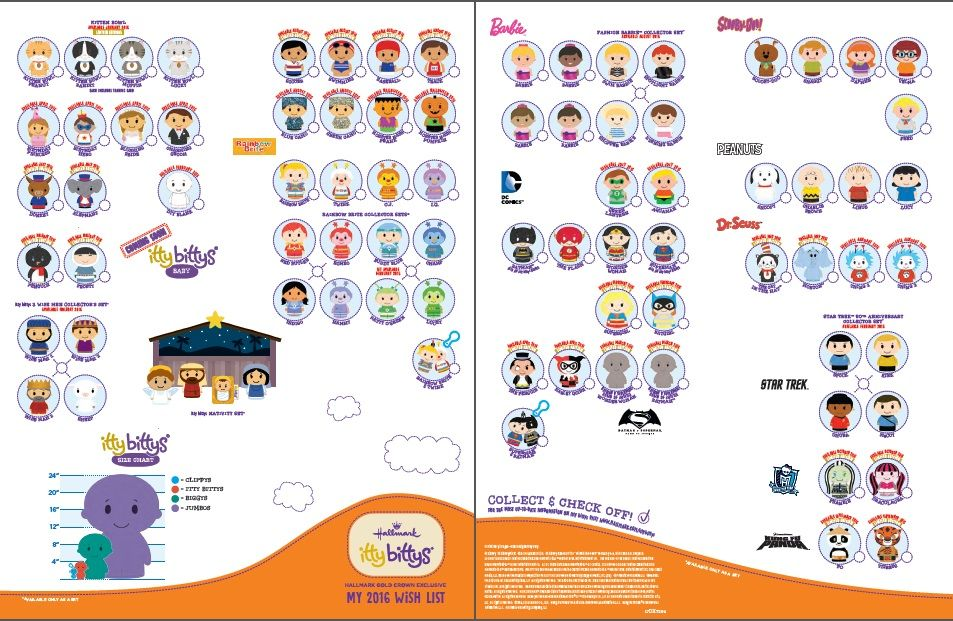 Official  Hallmark Itty Bitty Checklist Pages