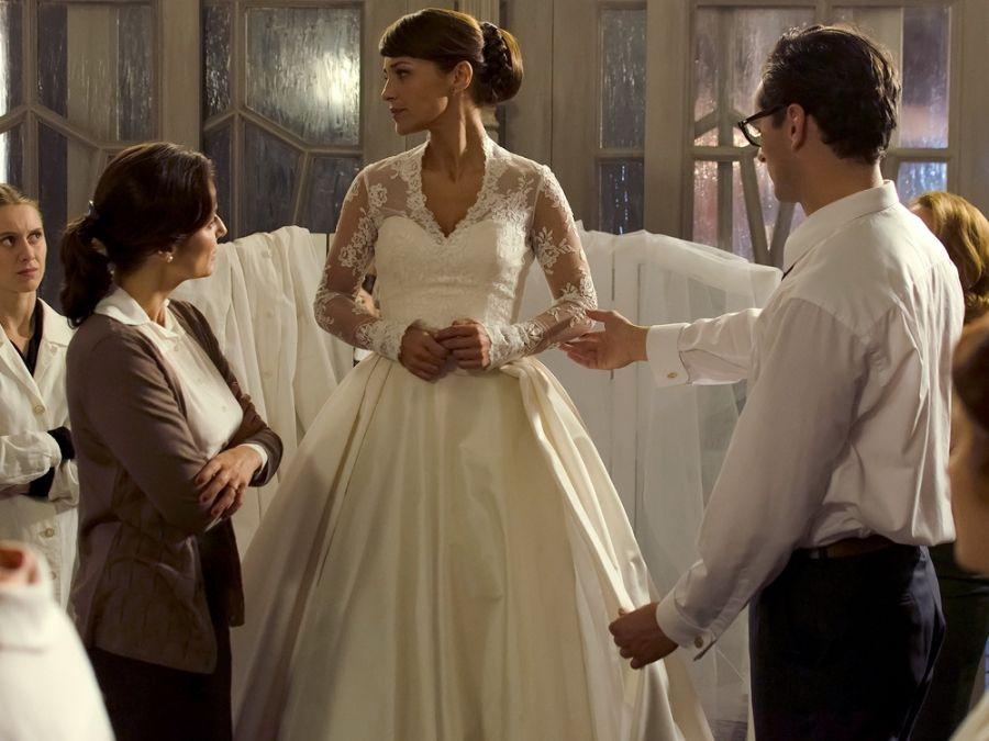 justo el día antes de la boda, el vestido de cristina ha
