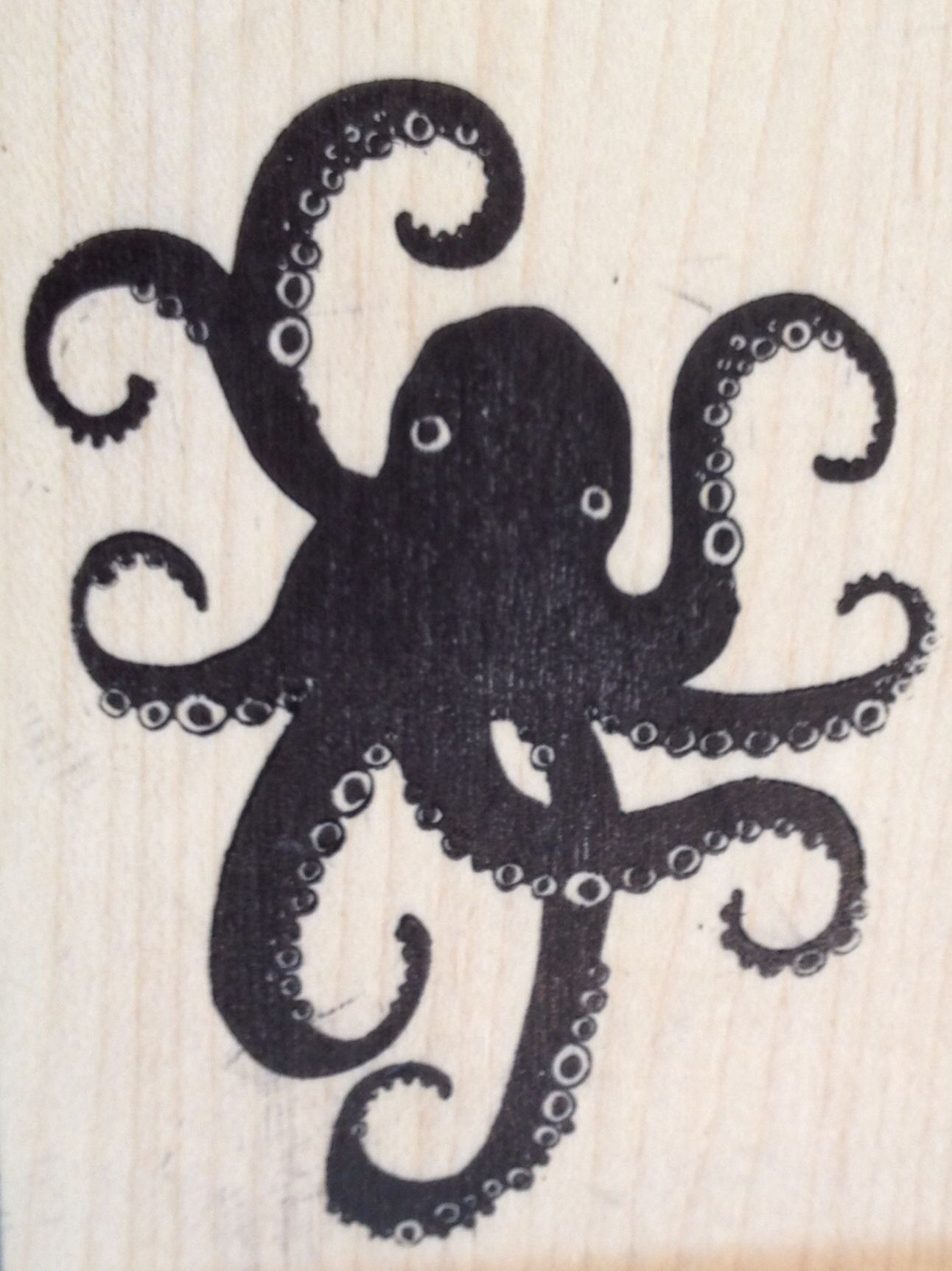 Paper Source Octopus Stamp