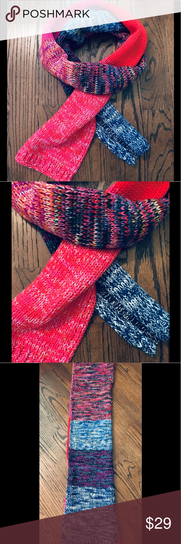 Gap oversized knit scarf Pretty colors of one side red tones and the other side  Gap oversized knit scarf Pretty colors of one side red tones and the other side  Gap over...