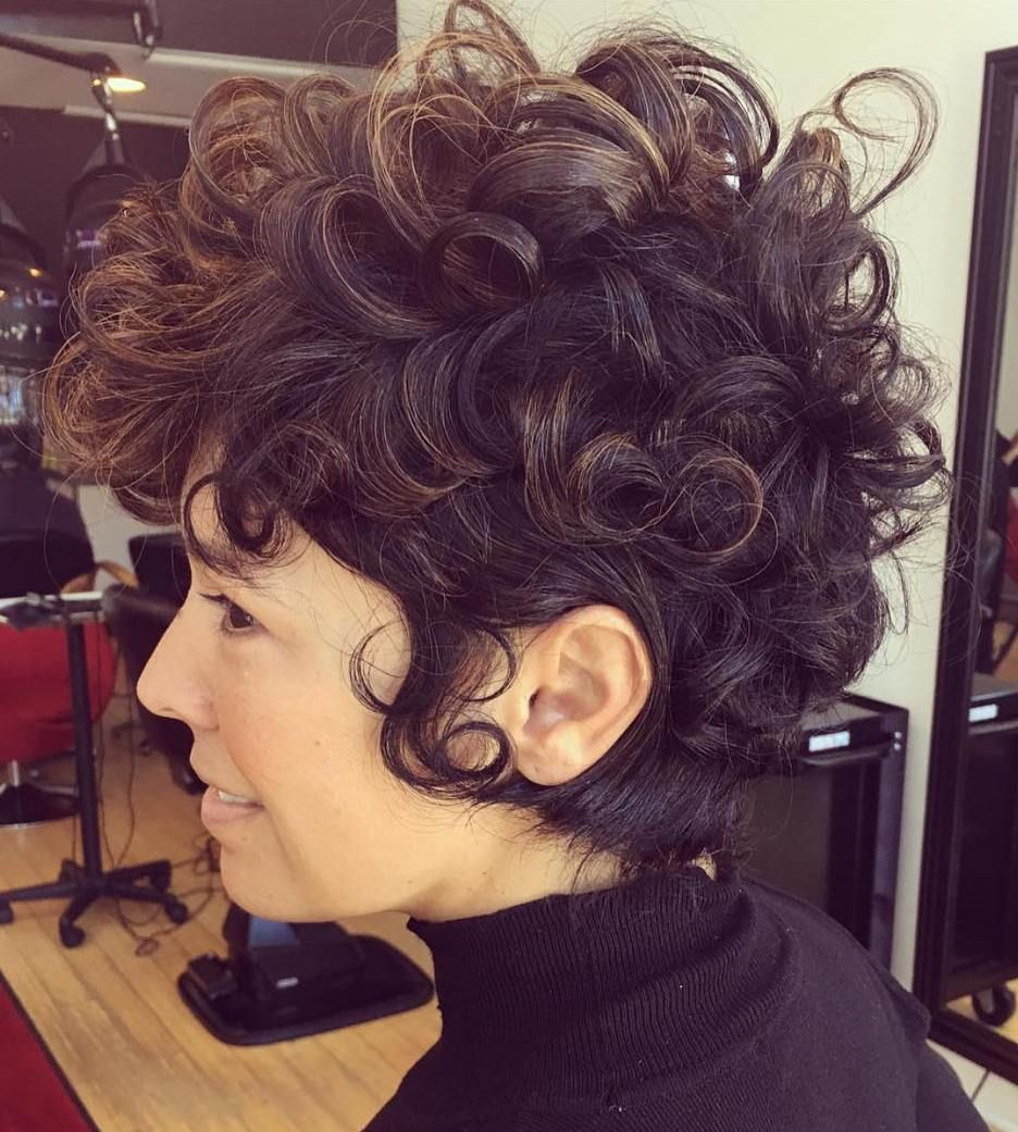 50 Most Delightful Short Wavy Hairstyles Curly Pixie
