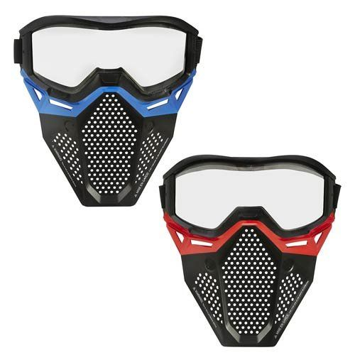 Nerf Rival Face Masks Red and Blue Bundle. GET READY FOR THE BATTLE:  Challenge your friend in a Nerf gun competition and get ready to win!