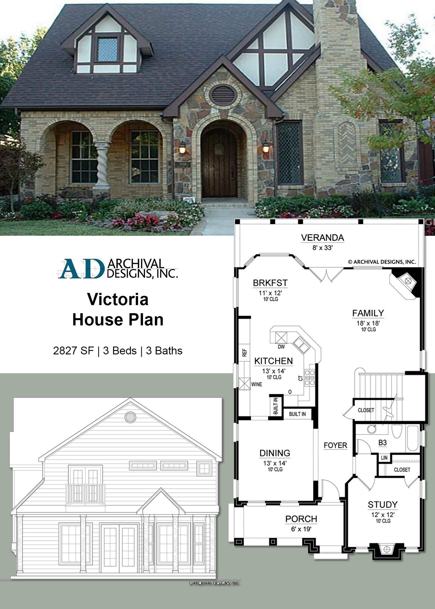 Victoria Narrow House Plan Victoria House Cottage House Plans Craftsman House Plans