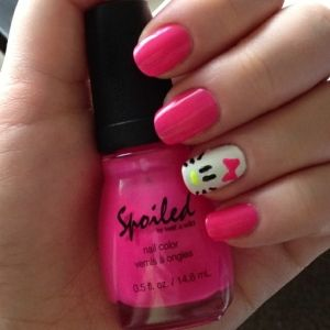 Hello Kitty nails! by elvia