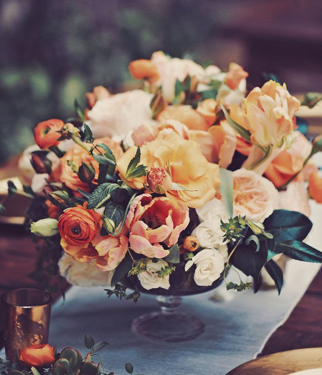 Orange Flower Arrangements For Weddings: Maui Wedding At Haiku Mill: Cass + Ben