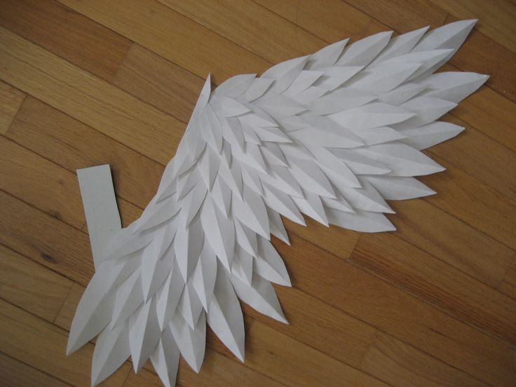 Paper Angel Wingshandmade Love This And Totally Doable As Well Since It Uses Smaller Pieces Of Instead Large Ones Can Be Attached To Sturdy