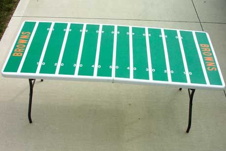 Football Field Tailgating Table