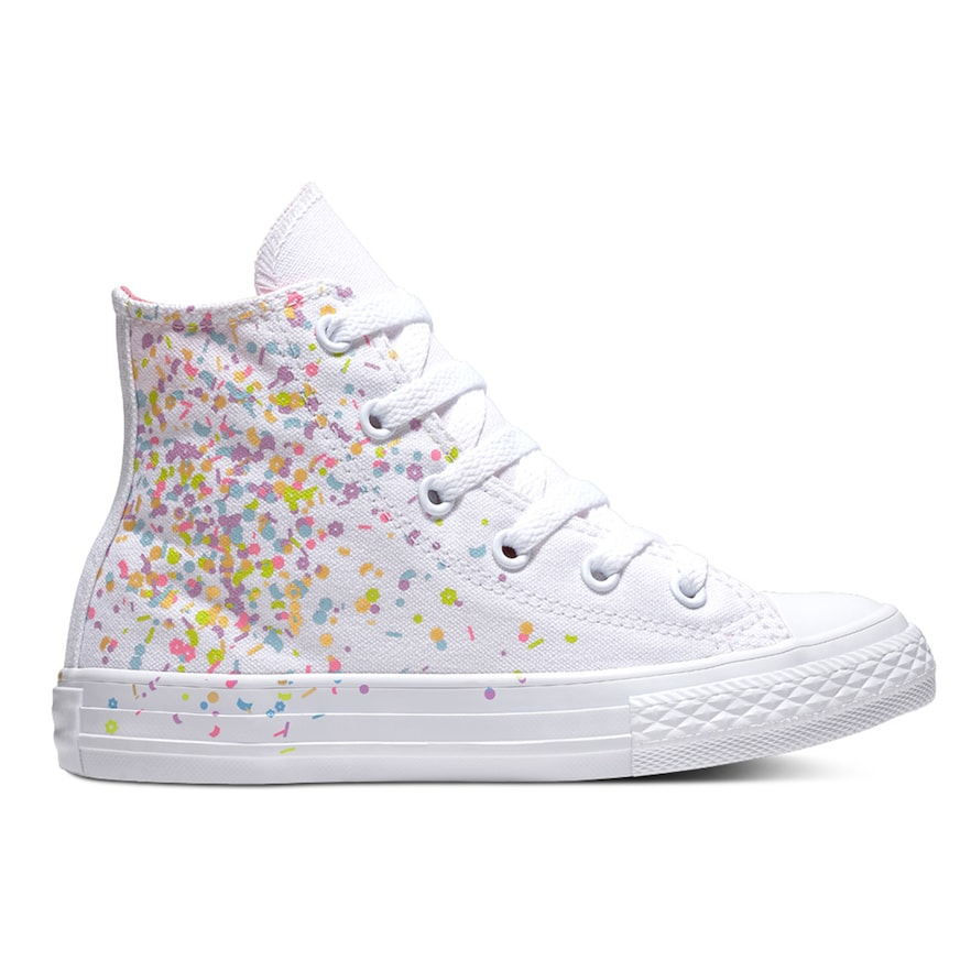1876ba7e7eee39 Girls  Converse Chuck Taylor All Star Birthday Confetti High Top Shoes