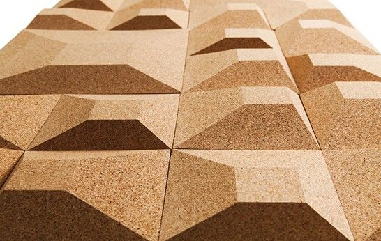 Dimensional Wall Tiles From Recycled Cork Anyone Got An Nrc For This Stuff Granorte Is A Portuguese Family Compa Cork Wall Tiles Cork Wall Dimensional Wall