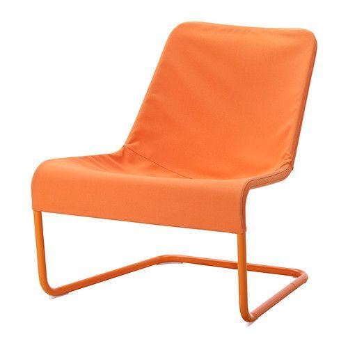 IKEA - LOCKSTA, Sillón, naranja, , La funda es fácil de limpiar, ya que se puede quitar y lavar a máquina.Al ser ligero y fácil de mover, podrás limpiar el suelo y reorganizar la habitación más cómodamente.