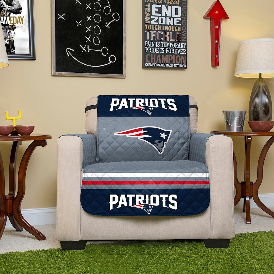 New England Patriots Quilted Chair Cover Patriots, New