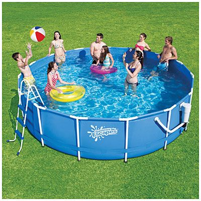 Summer Escapes 14 X 36 Metal Frame Pool With Ladder At Big Lots Pool Summer Escape Metal Pool