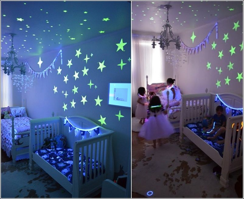 Amazing Interior Design Glow in the Dark Paint and Decals for Your ...