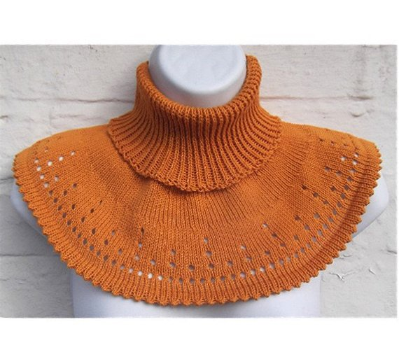 Cowl Pattern Machine Knitted Knit Collar Capelet Machine Knitting ...