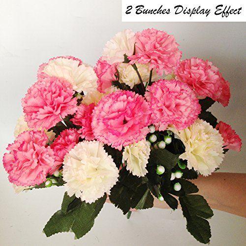 Meiliy 2 Bunches Fake Carnation Silk Flower Artificial Fl Https Www Amazon Com Dp B01jrjxp8i Ref C Artificial Flowers Garden Crafts Decorative Accessories