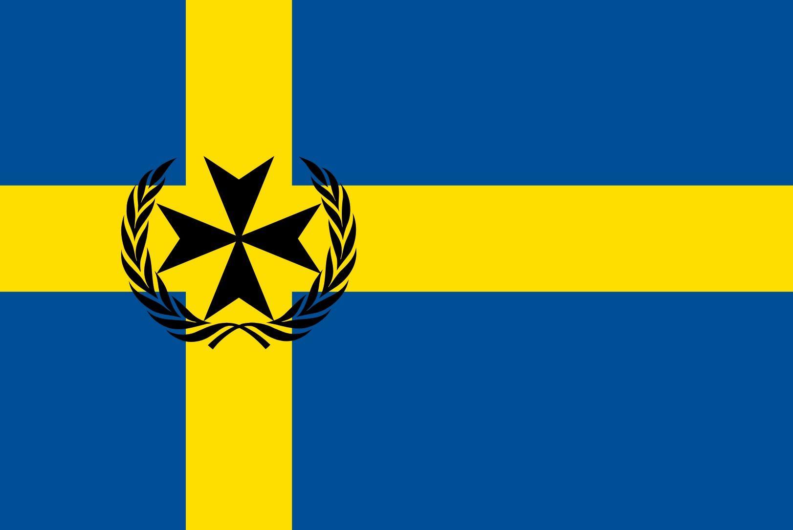 Sark Sleeved Flag suitable for Boats 45cm x 30cm