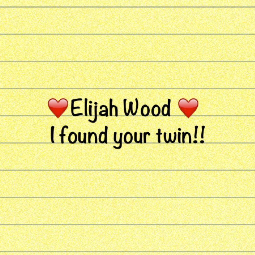Elijah wood. I found your twin! | Elijah wood, Frodo ...