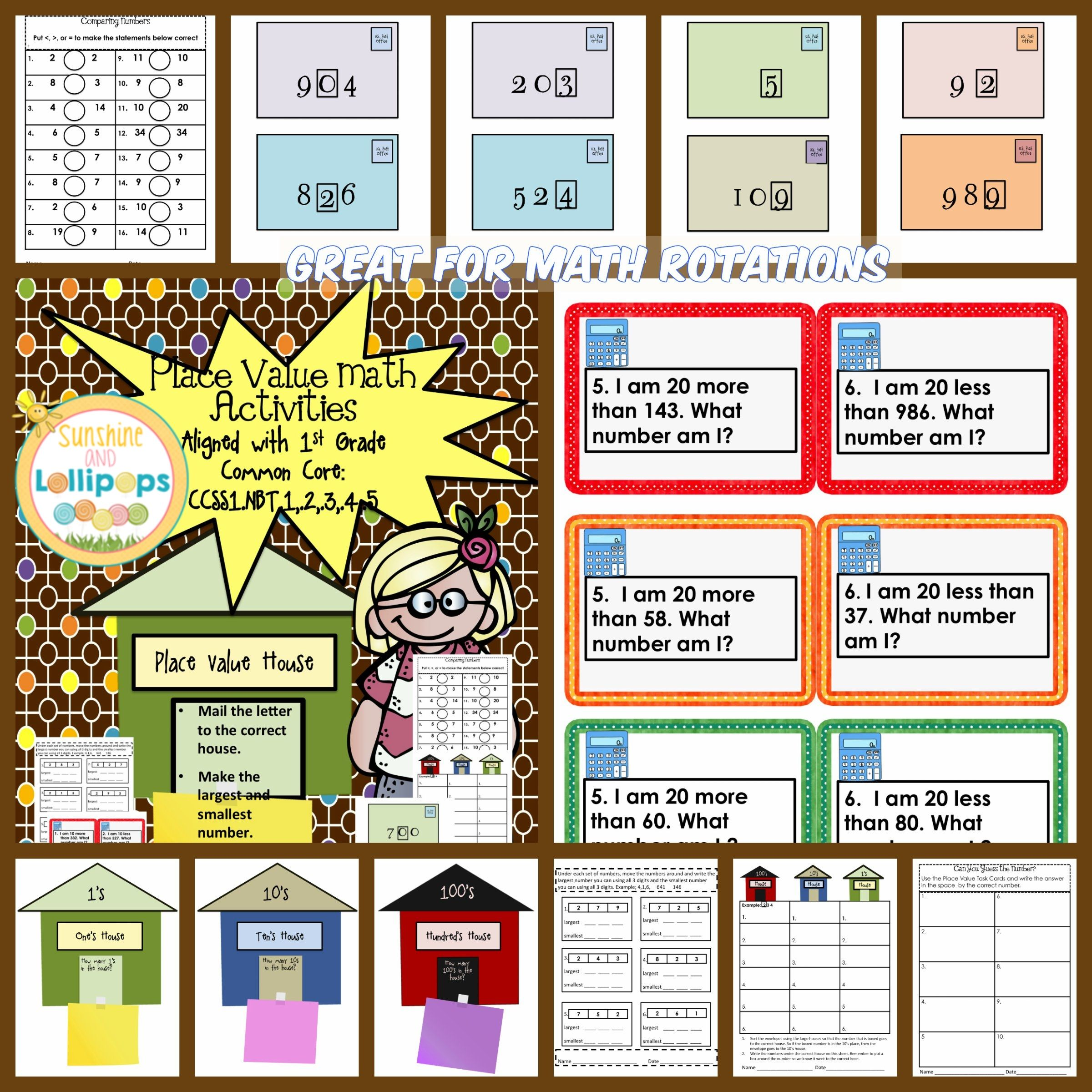 3 00 Place Value Math Activities Aligned With Common Core