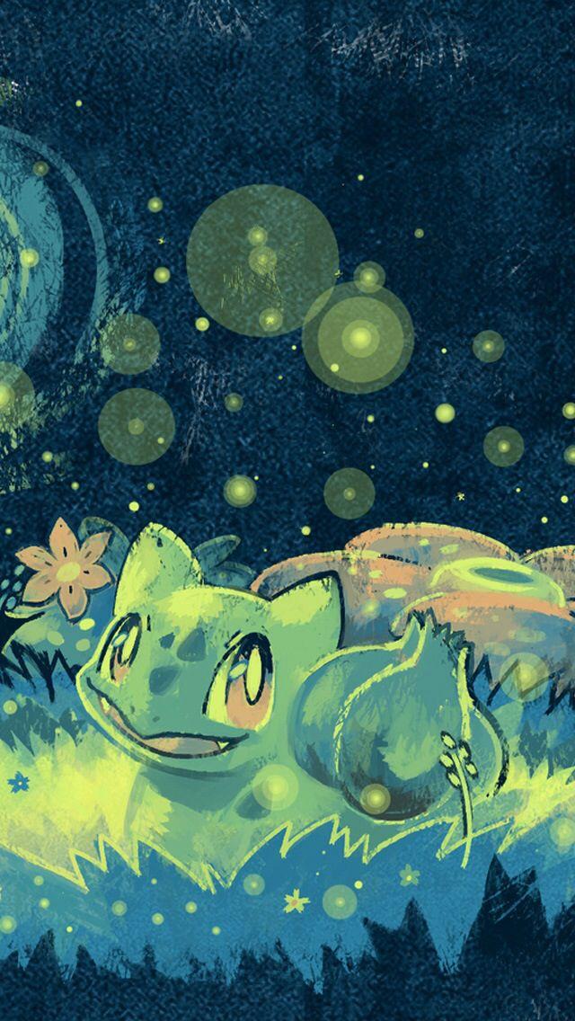 Cute bulbasaur pokemon artwork wallpaper pokemon pins