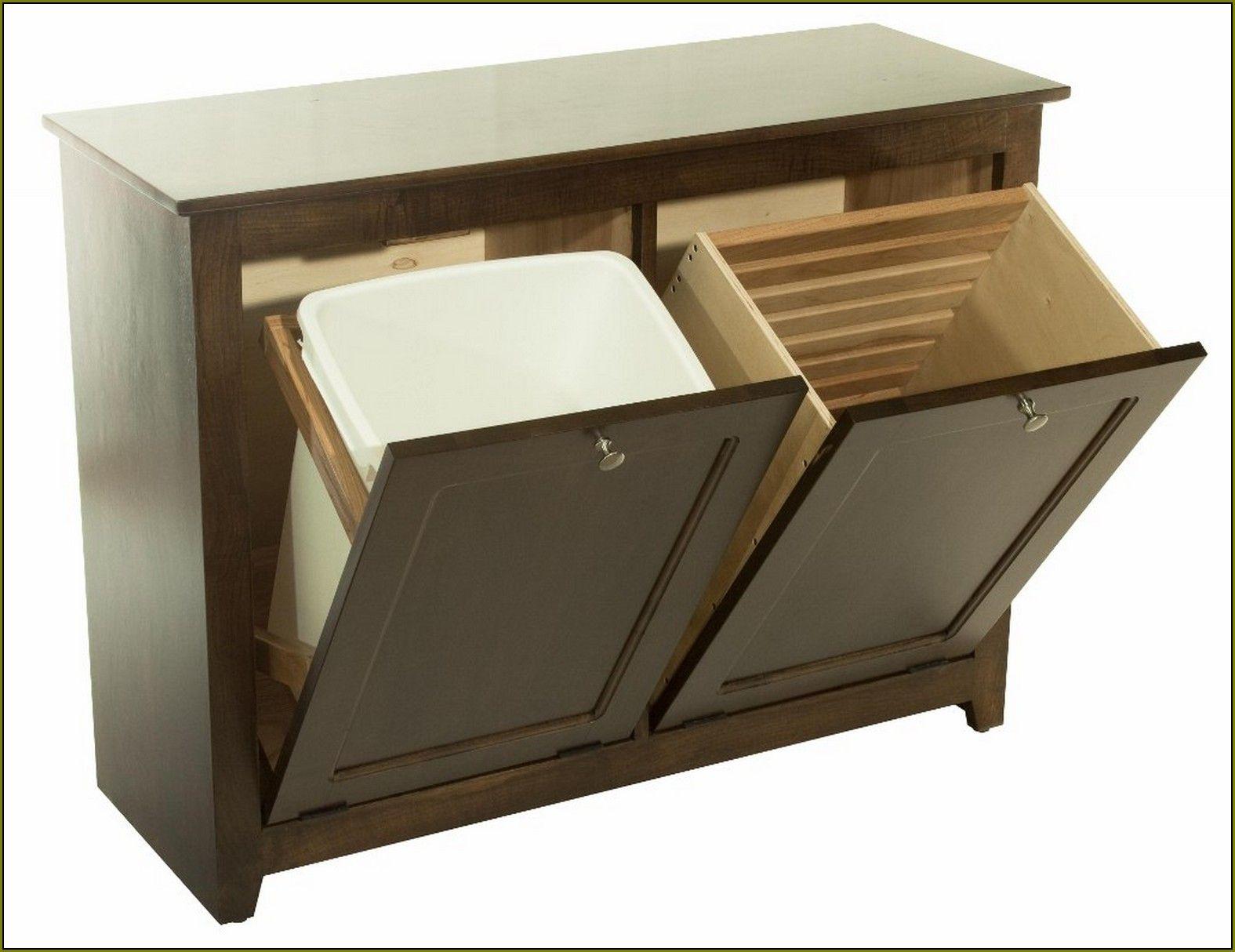 hide kitchen trash can fork tilt out bin http color betteroffted
